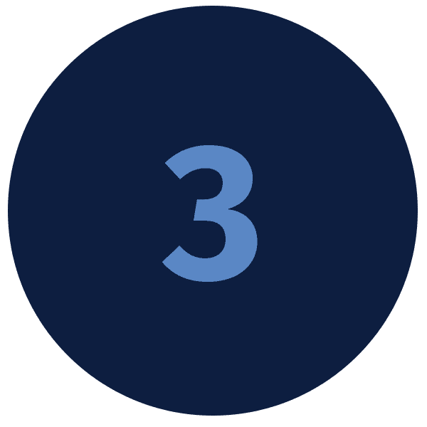 Number 3 in blue circle