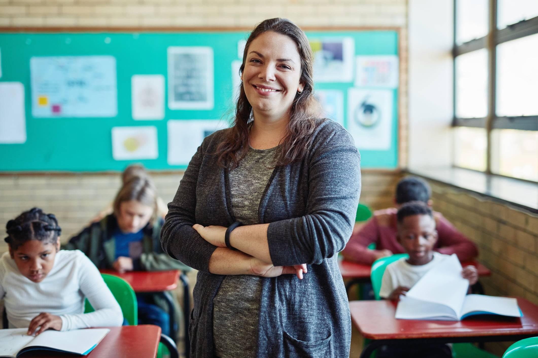 Teacher and Classroom of Kids using TeacherMade