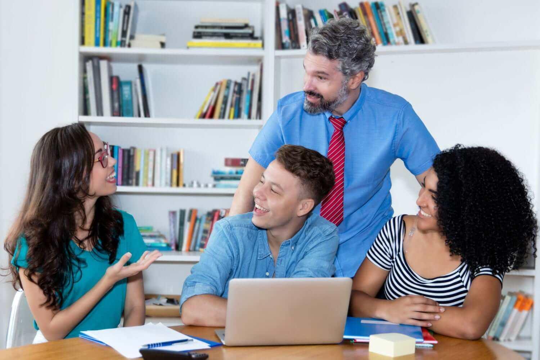 Teacher and Students in Classroom - TeacherMade
